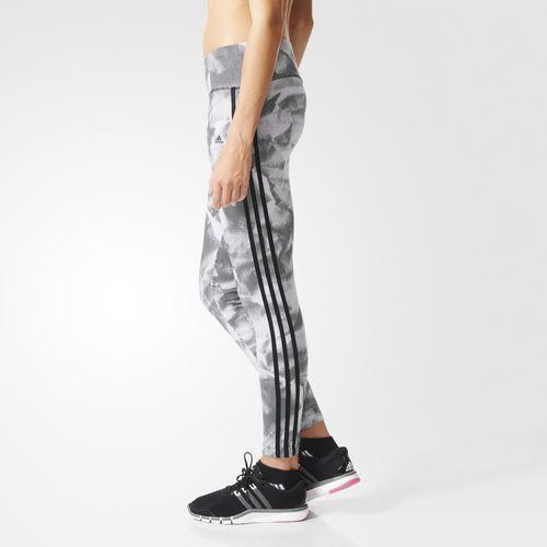 Essentials 3-Stripes Paper-Print Legging - wit