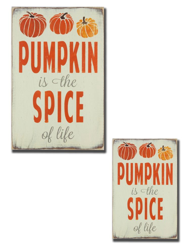 Pumpkin is the Spice of Life sign - Barn Owl Primitives