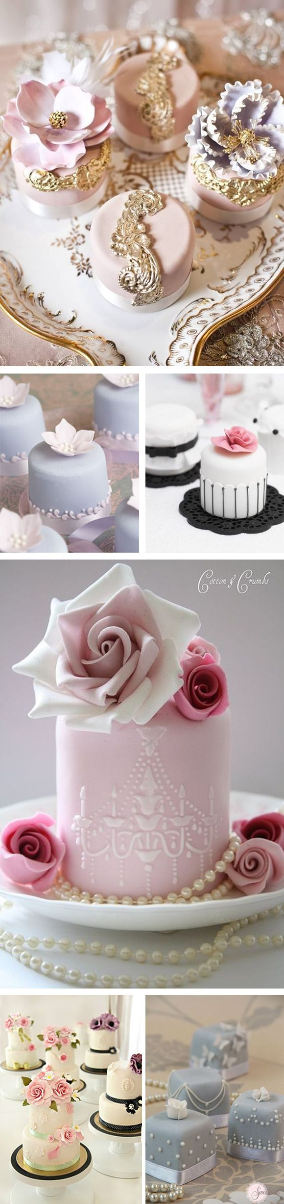 Mini cakes para bodas #weddingcakes #minicakes