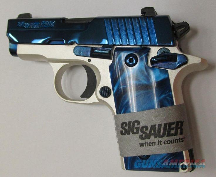 "Sig Sauer "" Blue Ice "" Bill Hicks Distributor Exclusive  380 ACP P238 (Night Sights, SS)  Guns > Pistols > Sig - Sauer/Sigarms Pistols > P238"