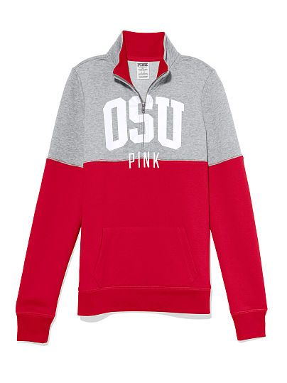 The Ohio State University Color block Half Zip Pullover PINK