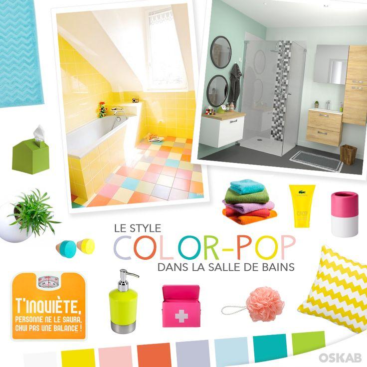 1000 images about planche tendance sdb deco on pinterest for Salle de bain pop