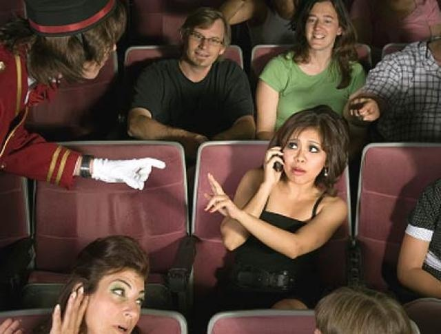 Movie Distractions by Ashley Stiefel, via Flickr: Bad Cellphone, Phones User, Cellphone Etiquette, Movie Distraction, Cell Phones, Cellphone Habits, Movie Start, Phones Etiquette, Mobiles Phones