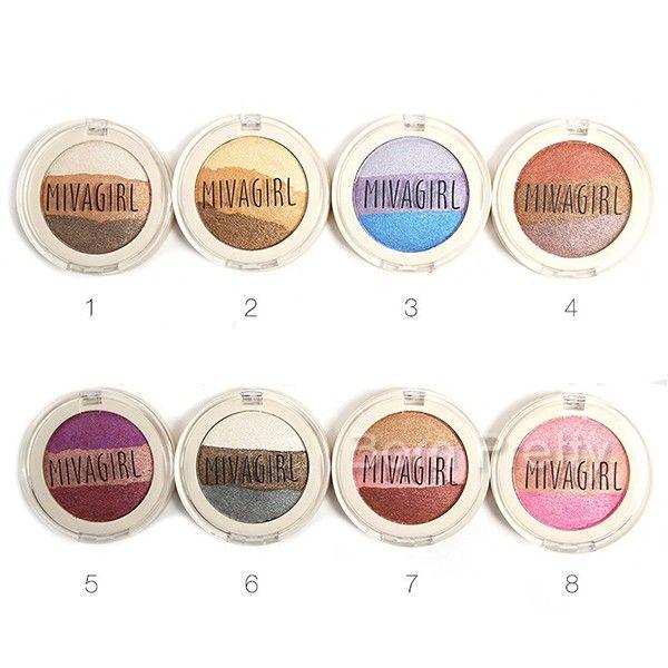 $4.51 3 Colors Shimmer Wheel-shaped Eyeshadow Palette Waterproof Eyeshadow 8 Patterns - BornPrettyStore.com