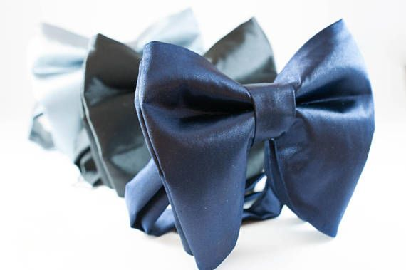 Oversized bow tie, Large BowTie, Mens Bow ties, Big bow tie, Groom Bow Tie, Wedding BowTie, Butterfly Bow Tie, Gray Bow tie Tom Ford bowtie