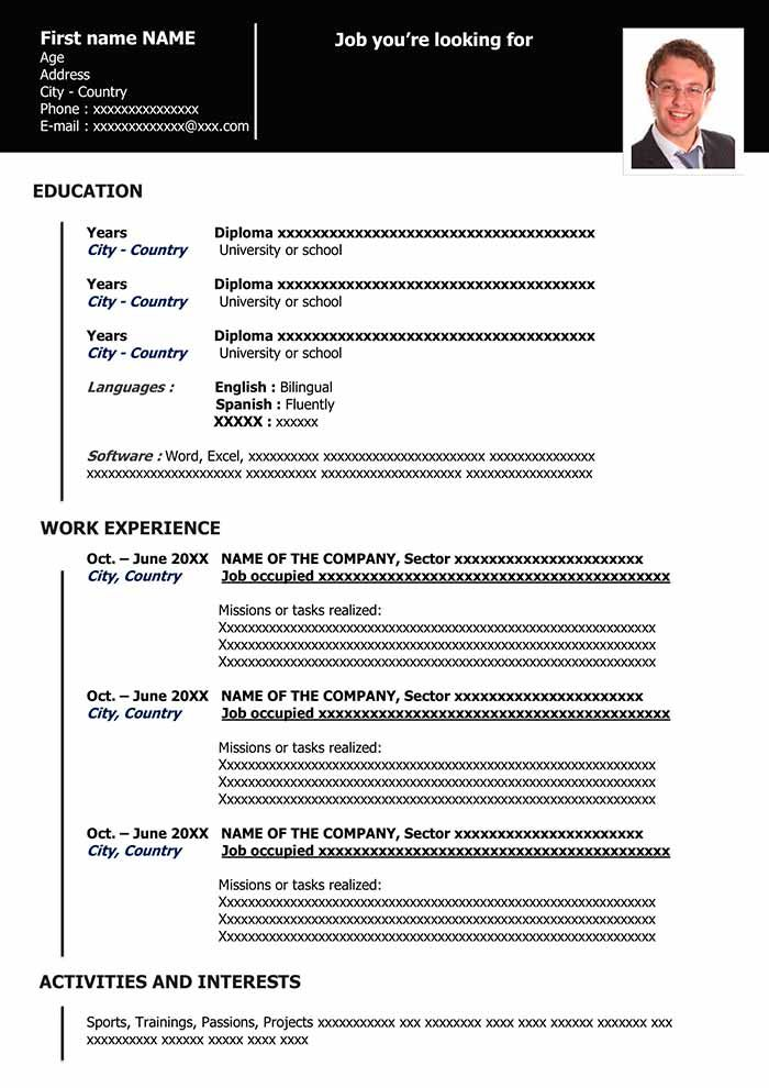 Work Resume Example Free Download Cv Templates Functional Resume Template Resume Template Free Resume Template Download