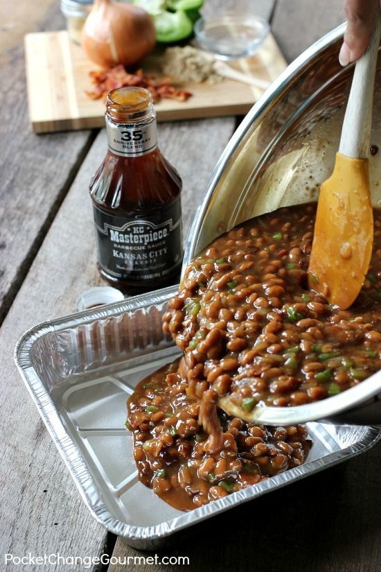 Smokehouse Grilled Beans | Recipe on PocketChangeGourmet.com