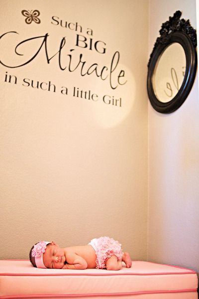Little Girl, Big Miracle - we absolutely adore this nursery!