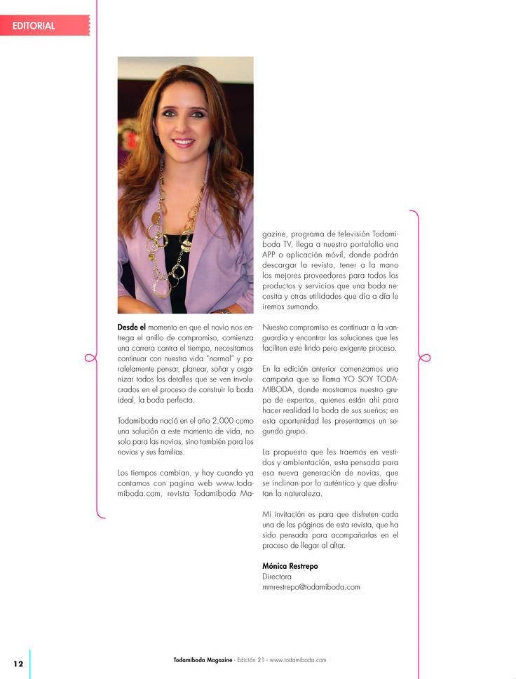 Estamos muy felices de presentarles nuestra última edición de la Revista #TODAMIBODA