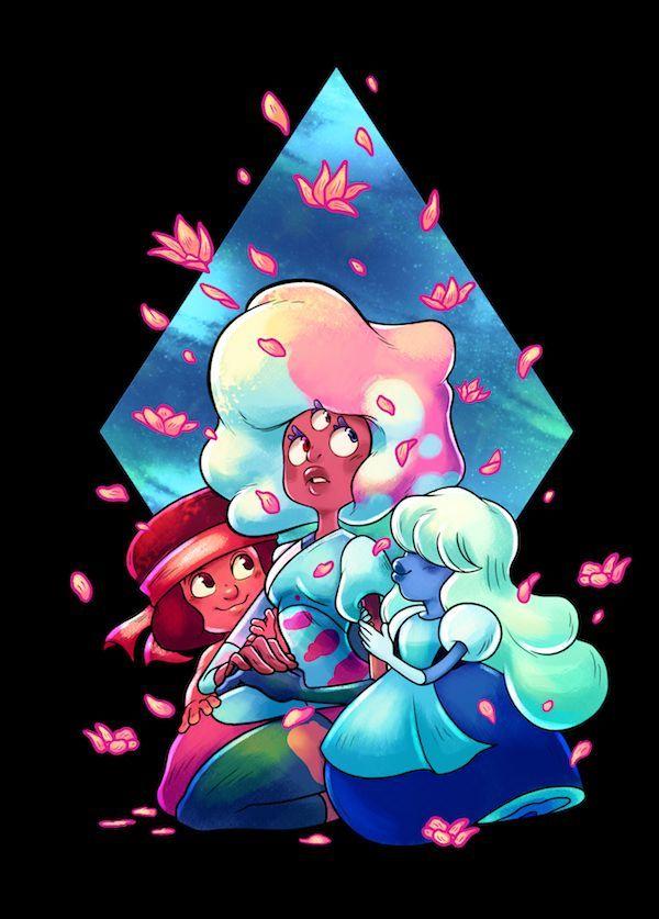 Steven Universe Garnet Fusion Ruby Sapphire Love Crystal Gems Fan Art Garnet Steven Universe Steven Universe Fanart Steven Universe