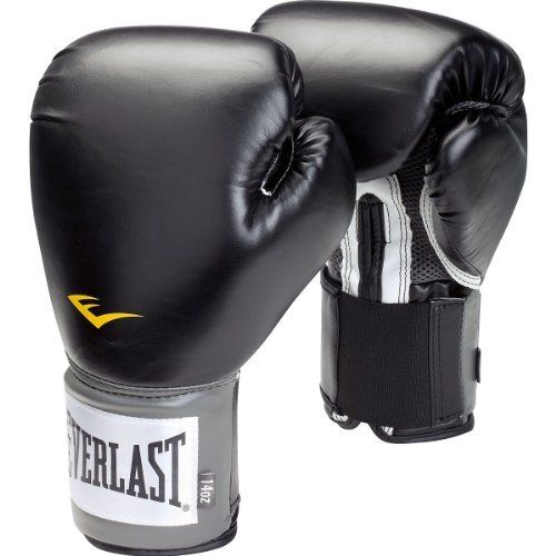 Everlast Pro Style Training Gloves (Black, 14 oz.) by Everlast. $22.45. Amazon.com                If you want to fight like a pro, you have to train like a pro. Enter the Everlast Pro Style training gloves, which help you train properly every time you step up to the bag. Made of synthetic leather, the Pro Style gloves are built to promote proper punching technique, with full padding on the front and back of the wrist that conforms to the natural shape of your fist. As a result...