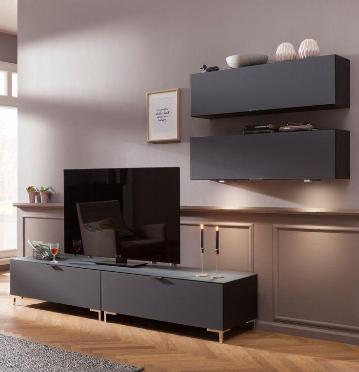 moderne wohnwand cleo special die stylische wohnwand besticht durch die puristische formensprache und die elegante - Stylische Wohnwand