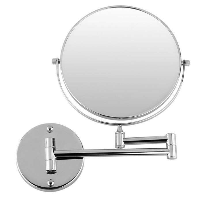 The Art Gallery JEYL Hot Chrome Round Extending inches cosmetic wall mounted make up mirror shaving bathroom mirror