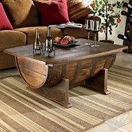Old wine barrel coffee table!