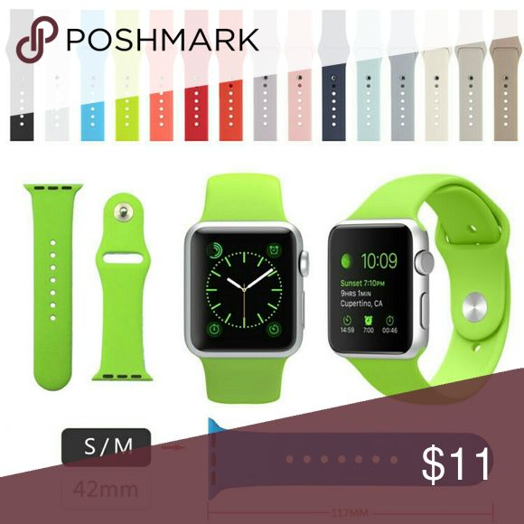 Apple iWatch 42mm Replacement Watch Bands Easily replace your Apple iWatch watch band with your favorite color 42mm silicone watch band. Feel free to bundle and make an offer!  Thanks for looking! Jewelry Bracelets