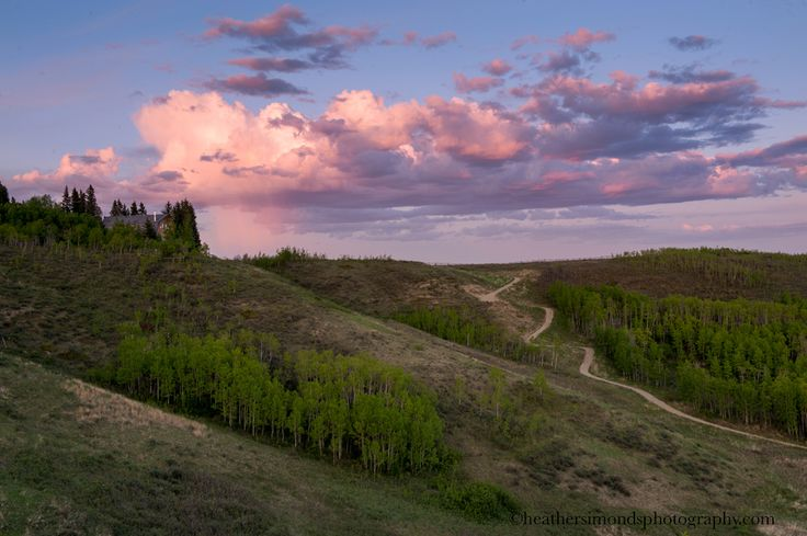 Sunset Looking East Towards Calgary #photography #park #sunset #Glenbow