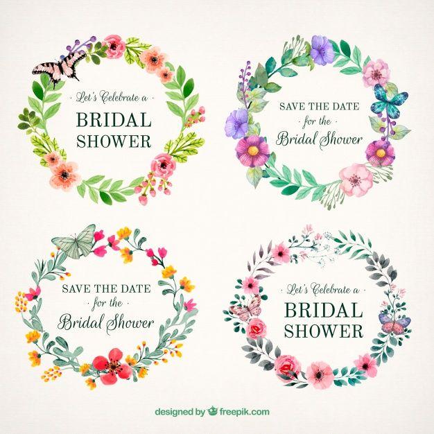 Schöne florale Rahmen mit Schmetterlingen Kostenlose Vektoren