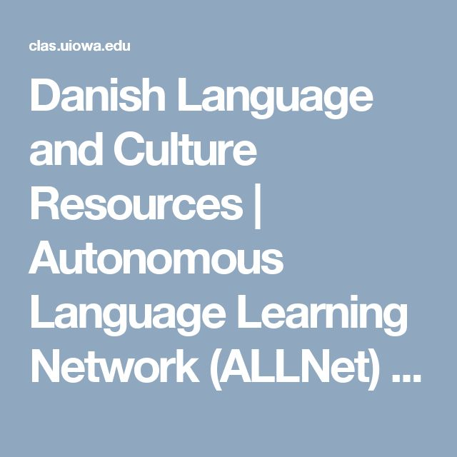 Danish Language and Culture Courses - DIS - Study abroad ...
