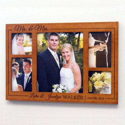 Wedding Gifts For Him And Her India : personalized wedding collage picture frame personalized wedding ...