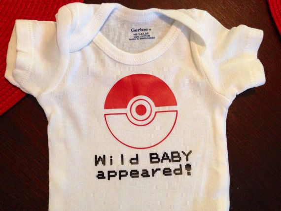 Customizable Pokemon Baby Onesie by RevengeOfThePrinter on Etsy