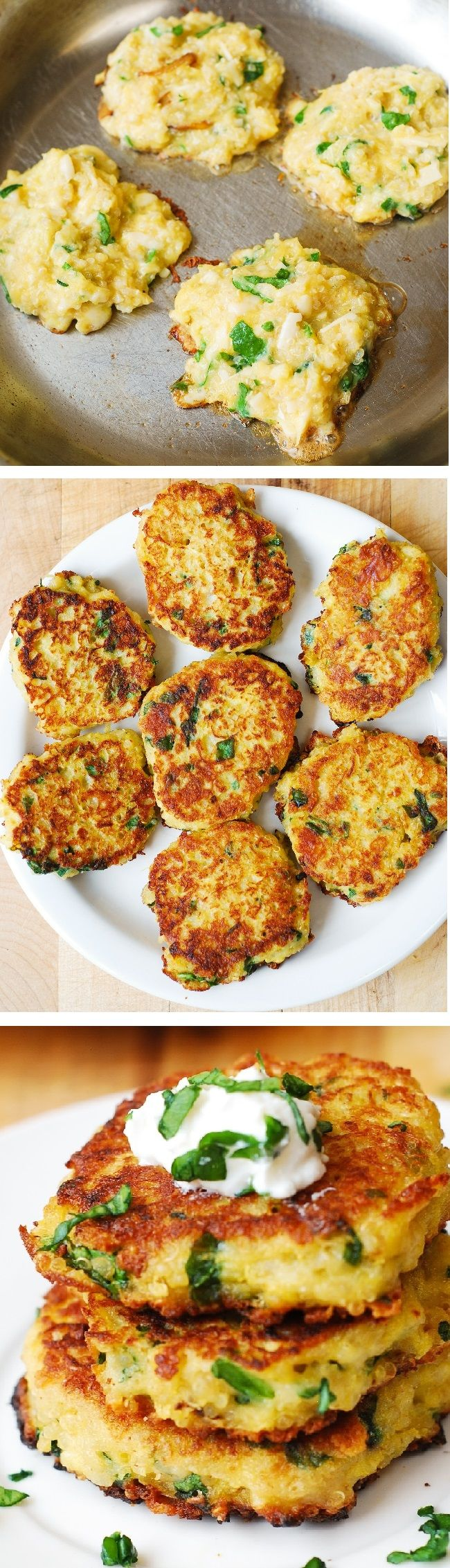 Spaghetti Squash, Quinoa, Spinach and Parmesan Fritters #ahealthyfoodie
