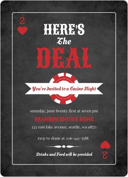 35 Best Invitation Ideas For Casino Nights Images On