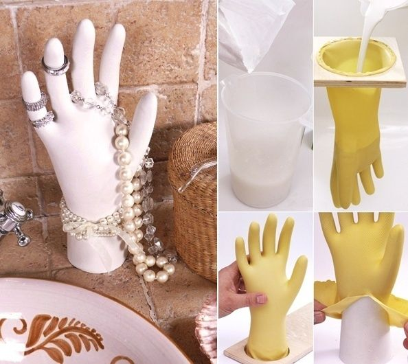 Make this Classic Hand to Display Your Jewelry   - http://www.amazinginteriordesign.com/make-classic-hand-display-jewelry/