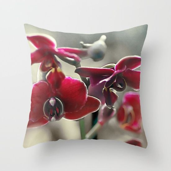The mystery of orchid(11) Throw Pillow    #pillows #society6 #orchid #nature #flowers #maryberg #homedesign  #throwpillows #sofa #salon #decorative  #textile #purple #christmas  #blue #flower  #pattern #gift