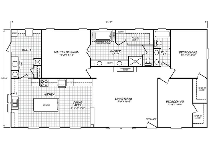 Canyon Lake 32603g Fleetwood Homes 1800 Sq Ft Home Plan