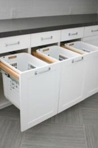 Hidden laundry clothes sorters