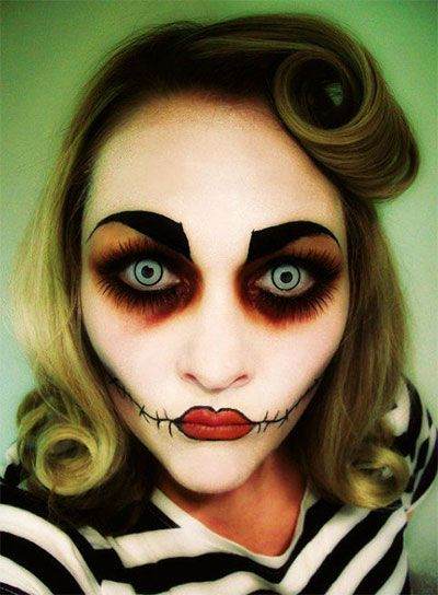1000 id es propos de maquillage de poup e effrayant sur pinterest maquillage de poup e - Maquillage halloween cicatrice ...