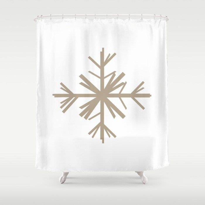 Buy Christmas Winter Woodland Snowflake Shower Curtain By Jsdavies