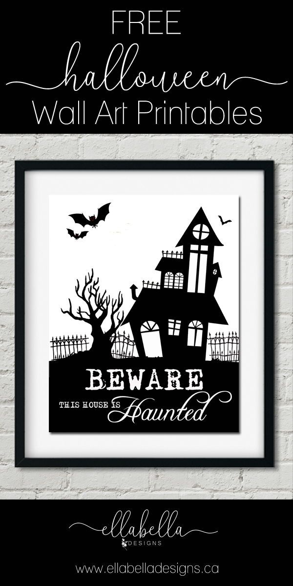 Halloween Wall Art Printables To Decorate Your Home Halloween