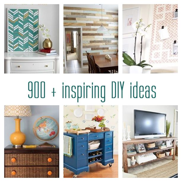 900 + Inspiring DIY Ideas