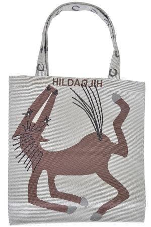 HildaHilda(ヒルダヒルダ)Lサイズ - トートバッグ「うま」