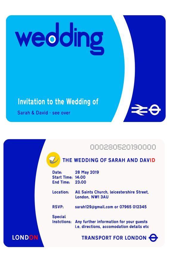 Pack Of 20 Wedding Invitations