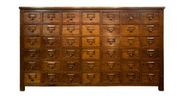 French Bank of Drawers c.1900