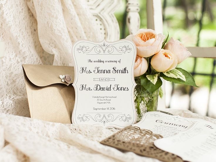 Good Taste Is Always In Style As Shown These Clically Elegant Diy Wedding Invitations
