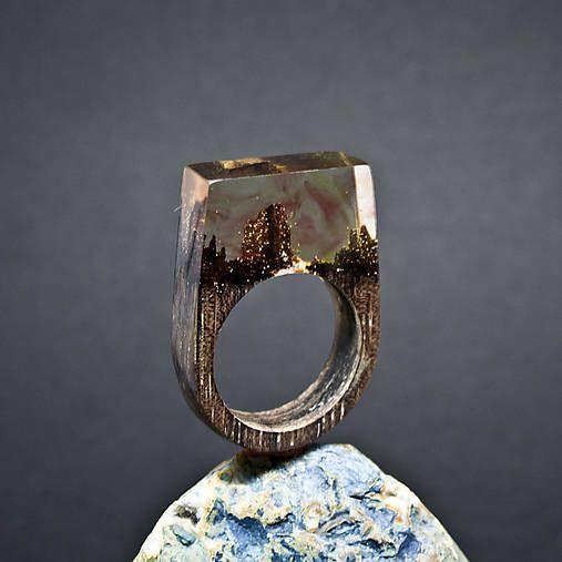 ForestDreamer / Drevený prsteň: Maľované v sne