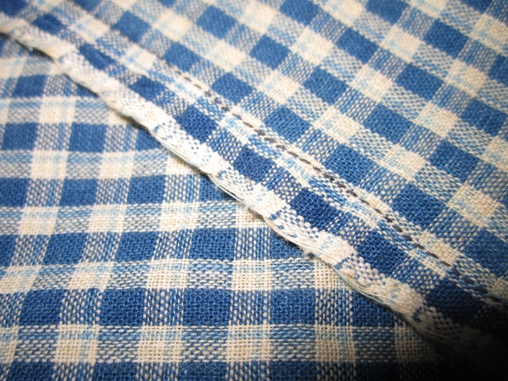 antique circa 1900 homespun indigo gingham 60x66 coversack from midwest estate via etsy - Blue Restaurant Ideas
