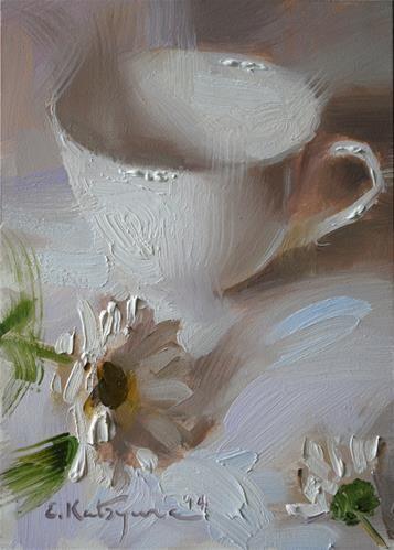 "Daily Paintworks - ""Cup on White"" by Elena Katsyura"