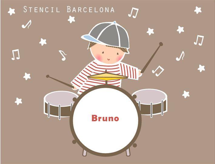 77 best vinilos infantiles de stencil barcelona images on - Stencil barcelona ...