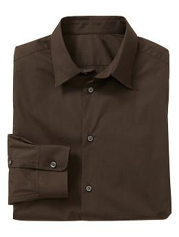 Stretch poplin shirt (slim fit) | Gap