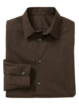 Stretch poplin shirt (slim fit) | Gap