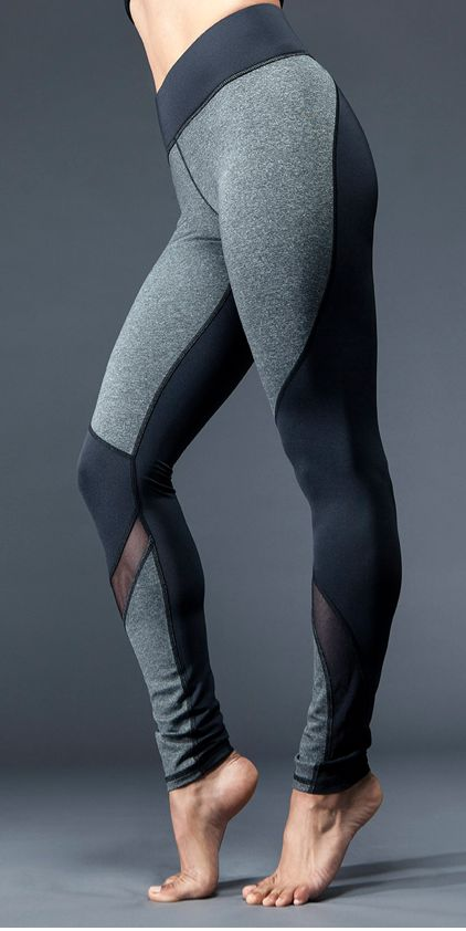 Michi - Yoga Legging, mesh and panel mixing