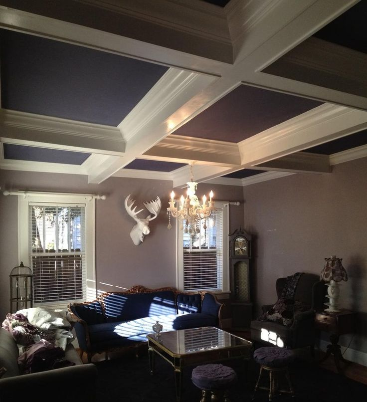 27 best images about coffered ceiling on pinterest for Coffered ceiling paint ideas