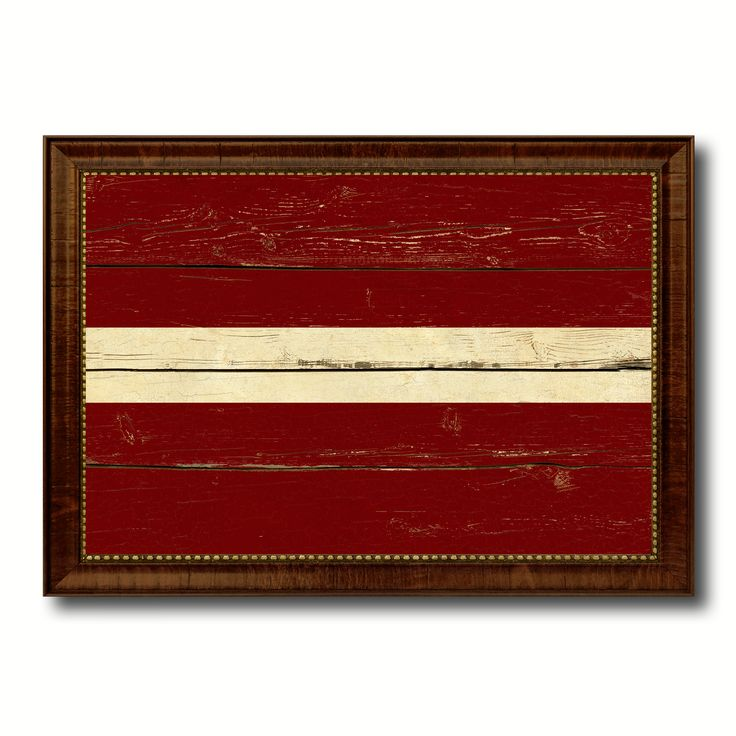 Latvia Country Flag Vintage Canvas Print with Brown Picture Frame Home Decor Gifts Wall Art Decoration Artwork