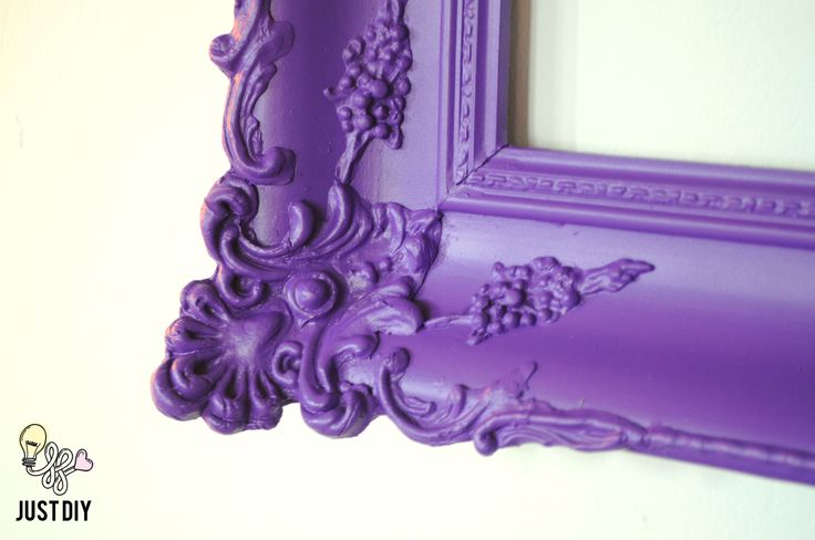 Before & After: Golden frame got a touch of purple pop!