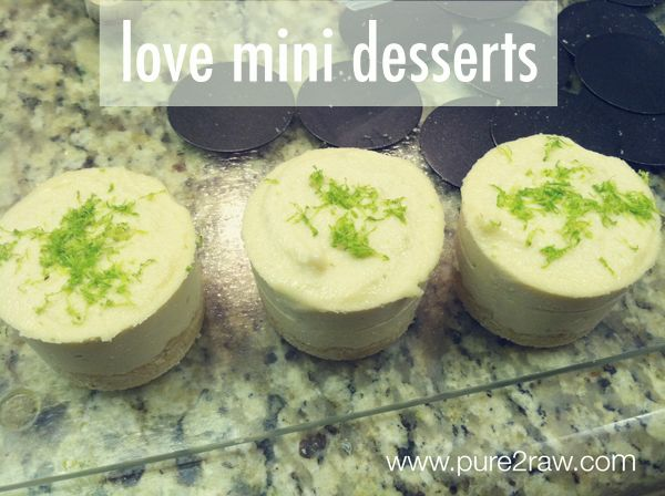 mini coconut lime cream cakes (dairy free)
