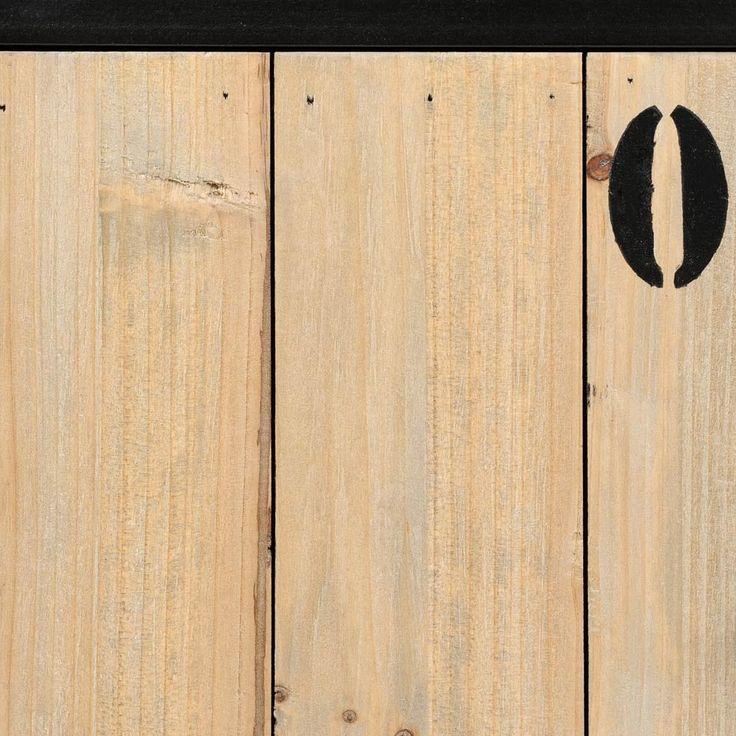 Roll-TV-Lowboard im Industrial-Stil aus Metall und Holz, B 110cm, schwarz | Maisons du Monde